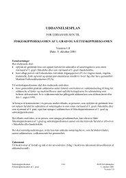 UDDANNELSESPLAN - Søfartsstyrelsen