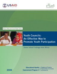 Youth Councils: An Effective Way to Promote Youth ... - EQUIP123.net