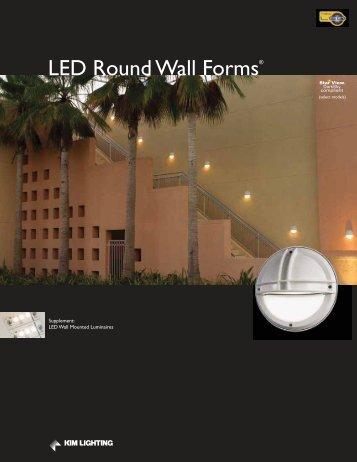 LED Round Wall Forms® - Kim Lighting