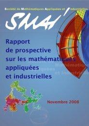 Rapport de prospective sur les mathématiques ... - SMAI - Emath.fr