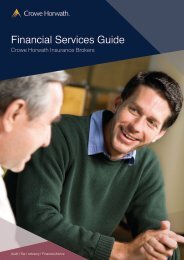 Financial Services Guide - Crowe Horwath International