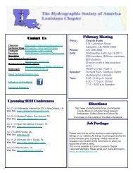 February Meeting Contact Us Directions: Job Postings ... - Louisiana
