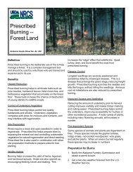 Prescribed Burning -- Forest Land - US Department of Agriculture