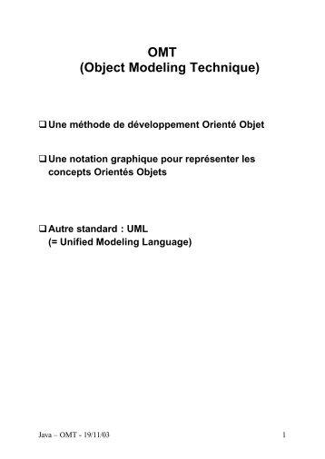 Les diagrammes OMT