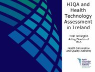 HIQA and Health Technology Assessment in Ireland