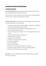 okruhy témat k bakalářské zkoušce