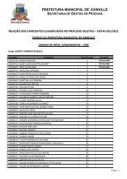 PREFEITURA MUNICIPAL DE JOINVILLE - Prefeitura Digital