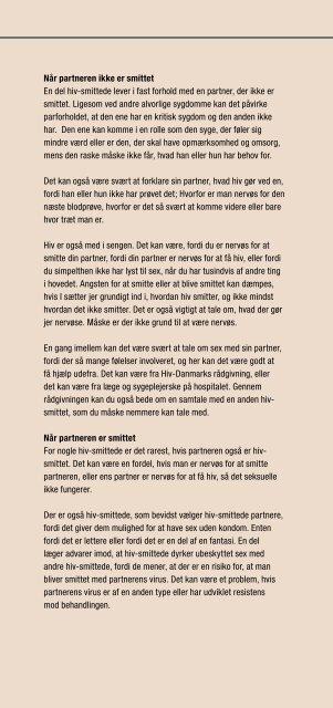 Kæ rlighed, parforhold og sex - Hiv-Danmark