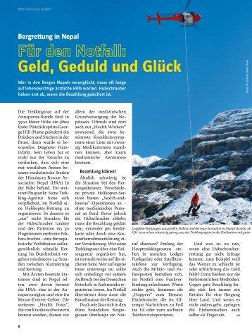 Bergrettung in Nepal Geld, Geduld und Glück - Deutscher Alpenverein
