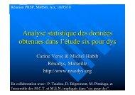 Analyse statistique des données obtenues dans l'étude ... - Resodys