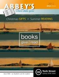Christmas | Summer Catalogue 2012 - Abbey's Bookshop