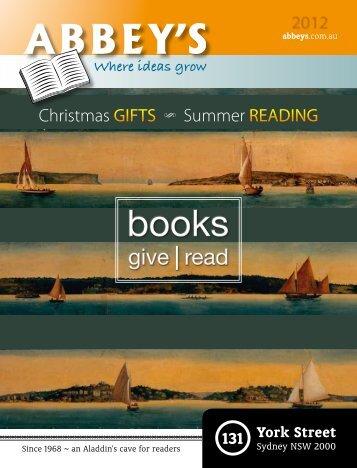 Christmas   Summer Catalogue 2012 - Abbey's Bookshop