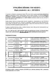 Zápis studentů v ak. r. 2013/2014