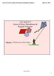 Find The Area Of Each Trapezoid Rhombus Or Kite 1 Solution