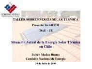 Situación Actual de la Energía Solar Térmica en Chile - Tech4CDM