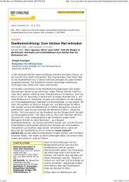 Artikel RP-Online vom 14.11.2012 - Zukunft Erkrath