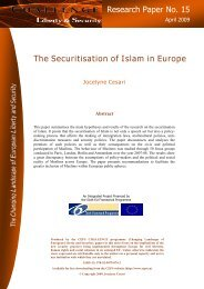 The Securitisation of Islam in Europe Research Paper No. 15