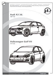 Audi A3 3d. Volkswagen Golf VII - Boisnier