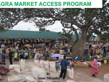 AGRA MARKET ACCESS PROGRAM