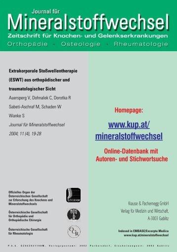 Extrakorporale Stoßwellentherapie (ESWT) - Dr. med. Joachim ...