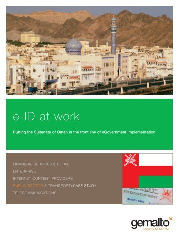 e-ID at work: OMAN - Gemalto