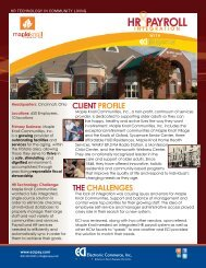 Maple Knoll Communities Case Study - CompareHRIS.com