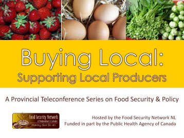powerpoint - The Food Security Network of Newfoundland and ...