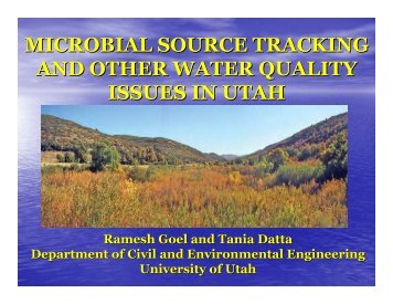 Using Microbes to Determine Sources of ... - Salt Lake County