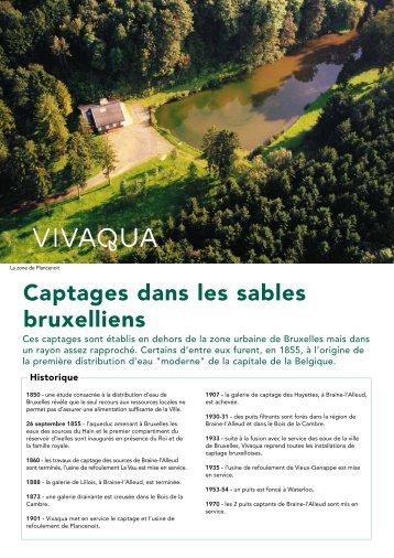 Captages dans les sables bruxelliens - Vivaqua
