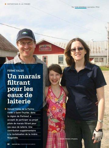 Un marais filtrant pour les eaux de laiterie - Fédération des ...