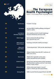 PDF download entire issue - European Health Psychology Society