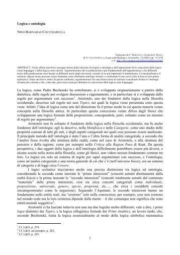 LOGICA E ONTOLOGIA - STOQ