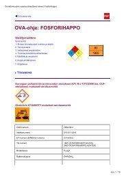 OVA-ohje: FOSFORIHAPPO - Työterveyslaitos