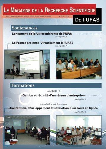 LE MAGAzINE DE LA RECHERCHE SCIENTIFIqUE - Université ...