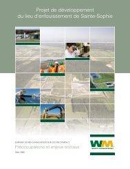 Préoccupations et enjeux sociaux (pdf) - Sainte-Sophie - Waste ...