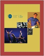 NEFA Annual Report 2007 - New England Foundation for the Arts