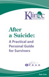 After a Suicide - Practical Personal Guide for Survivors