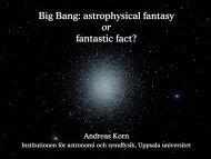Big Bang - Uppsala Astronomical Observatory - Uppsala universitet