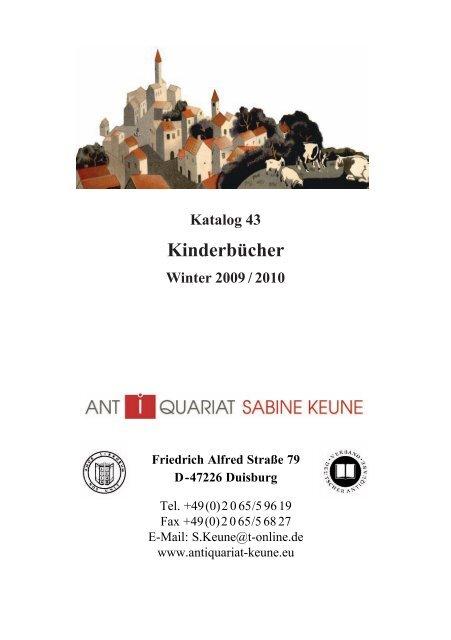 Kinderbucher Antiquariat Sabine Keune