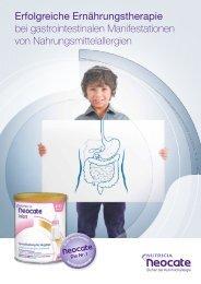 Erfolgreiche Ernährungstherapie bei gastrointestinalen ... - Neocate
