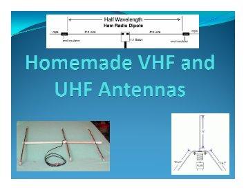 Homemade VHF/UHF Antennas - Cascade Amateur Radio Society