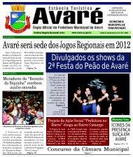 Avaré será sede dos Jogos Regionais em 2012 - Câmara Municipal ...