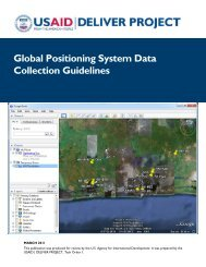 Global Positioning System Data Collection Guidelines - DELIVER ...