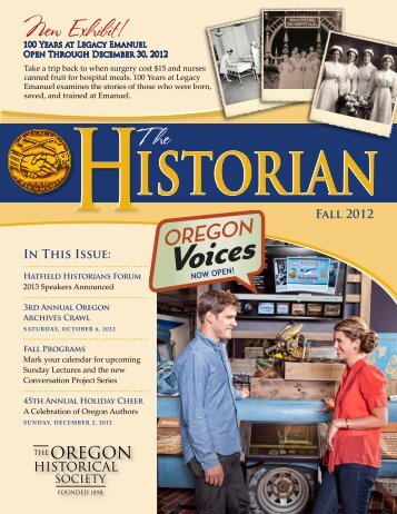 New Exhibit! - Oregon Historical Society