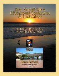 Conference Exhibitor Prospectus - Marina Recreation Association