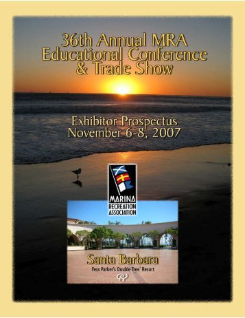 Conference Exhibitor Prospectus - Marina Recreation Association
