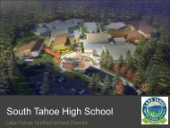 Presentation to the City Council - Lake Tahoe Unified School District