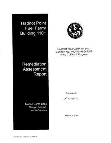 CD11: 3/2/2001: REMEDIATION ASSESSMENT REPORT ...