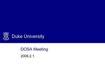 DOSA Meeting - Duke University