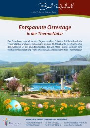 Entspannte Ostertage in der ThermeNatur - therme Natur Bad Rodach